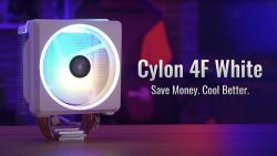 Представлен белоснежный кулер Aerocool Cylon 4F White с адресуемой подсветкой
