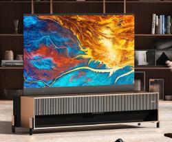 Hisense анонсировала первый в мире сворачивающийся лазерный телевизор Rollable Screen Laser TV